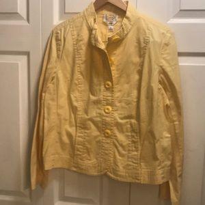 Talbots jacket stretchy button